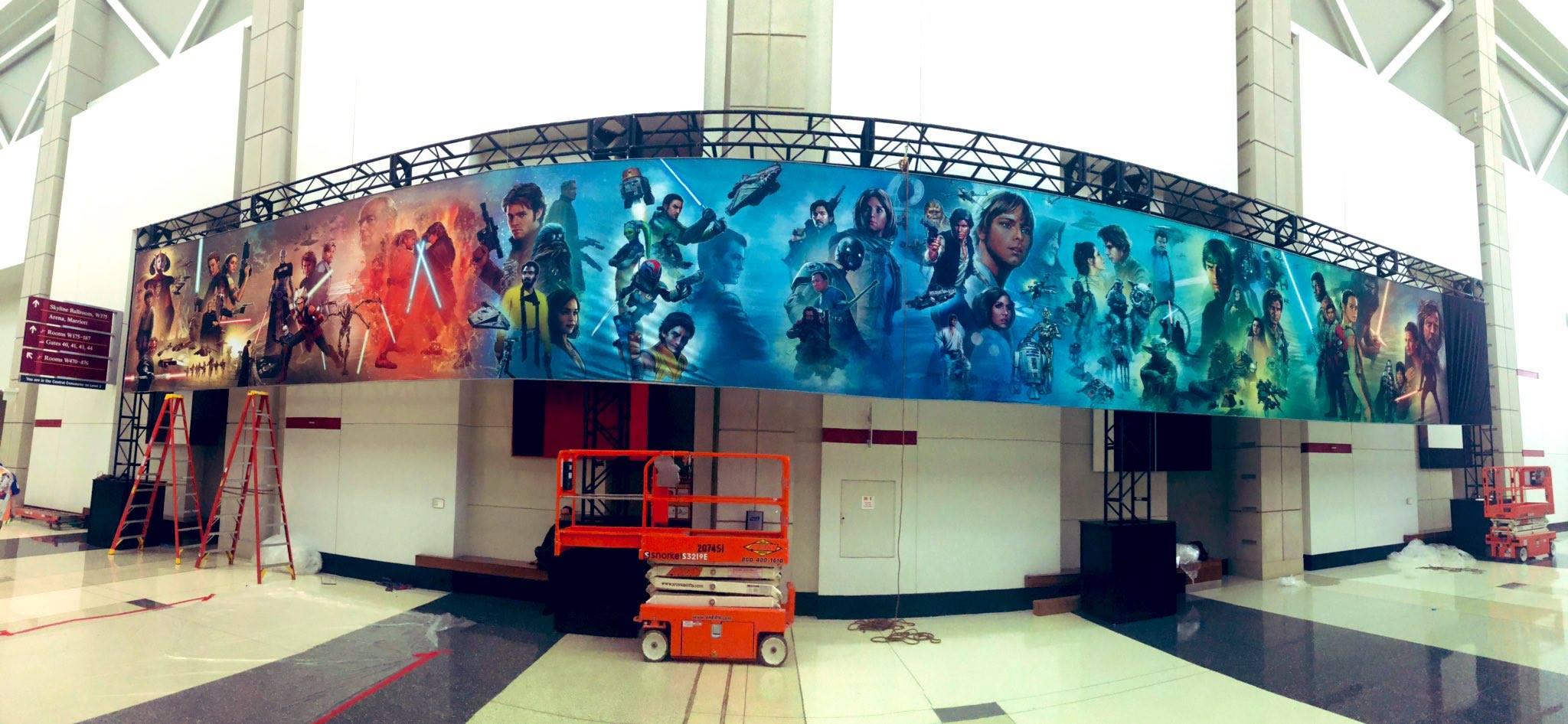 A Celebration egyik látványossága volt ez a 80 négyzetméteres Star Wars-freskó. (forrás: Twitter)
