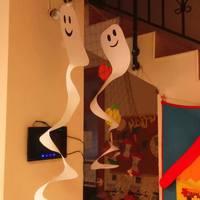 Halloween ablak és csoportszobai dekoráció