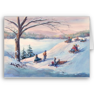 sleds_kids_snow_by_sharon_sharpe_card-p137013148957290521z857a_400.jpg