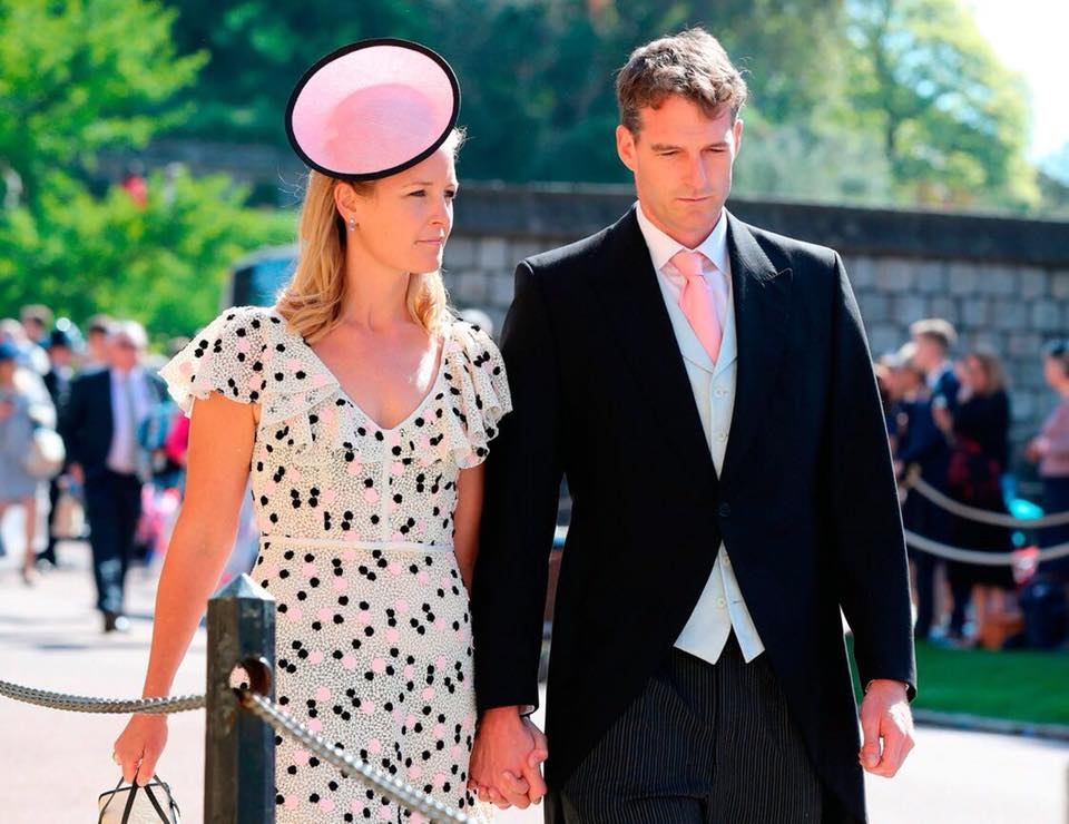 Lady Edwina Grosvenor  Rachel Trevor Morgan kalapot visel