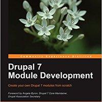 Drupal 7 Module Development Book Pdf