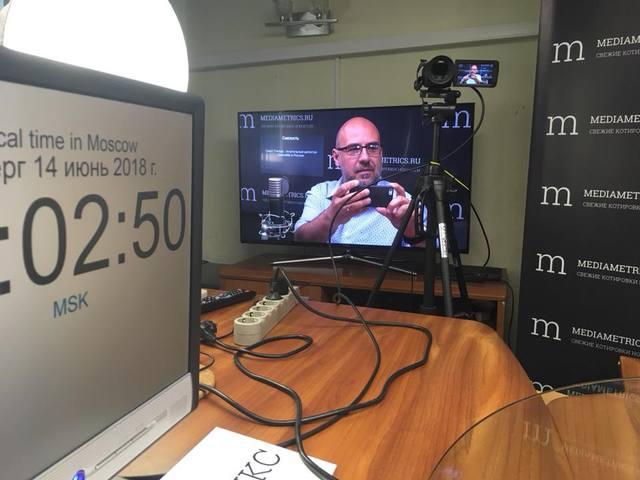 40 perc élő adás a chocoMe-ről a moszkvai Mediametrics.ru rádióban