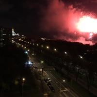 Moszkva felett 12. - tűzijáték egy 9 emeletes ház tetejéről