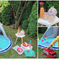 Gyereknapi mini piknik a kertben:)