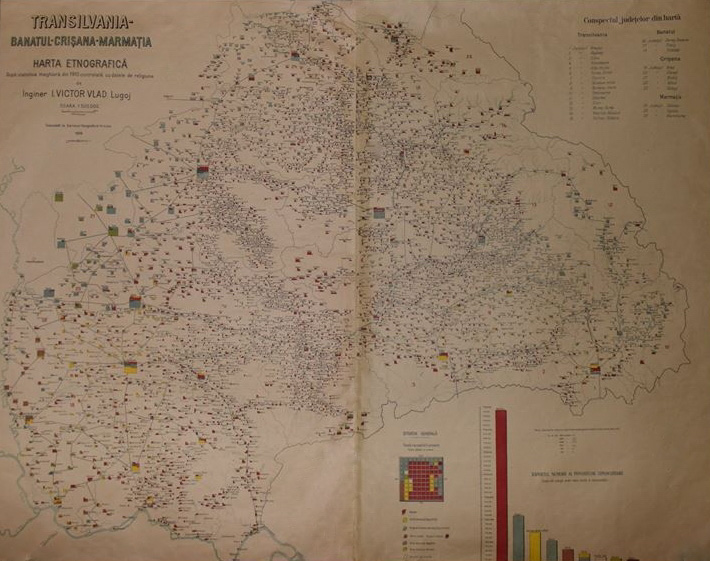 Romania reflected in ethnic maps - Pangea