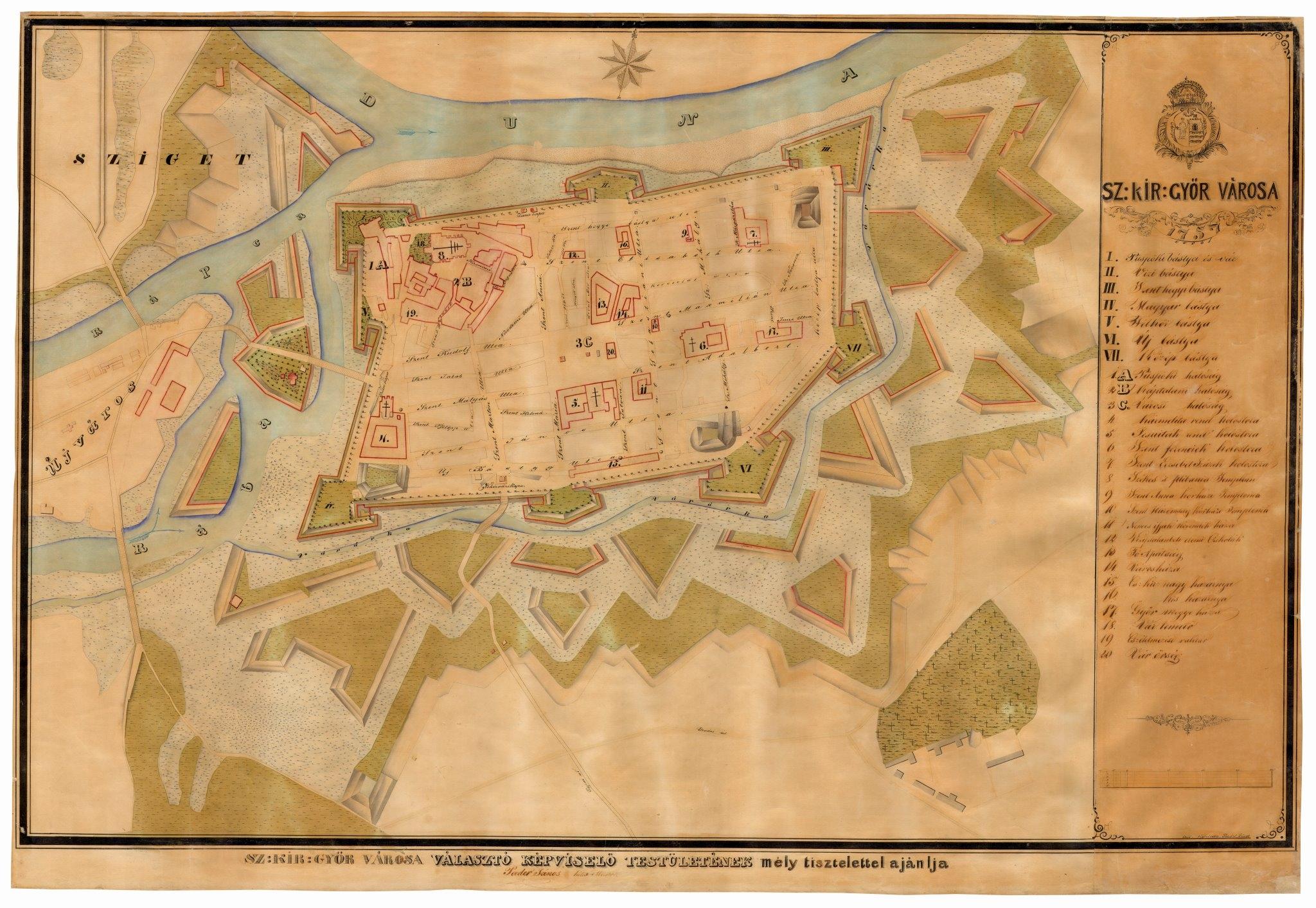 győrújbarát térkép Erődből gyárváros   Győr városföldrajza az 1970 es évekig   Pangea győrújbarát térkép