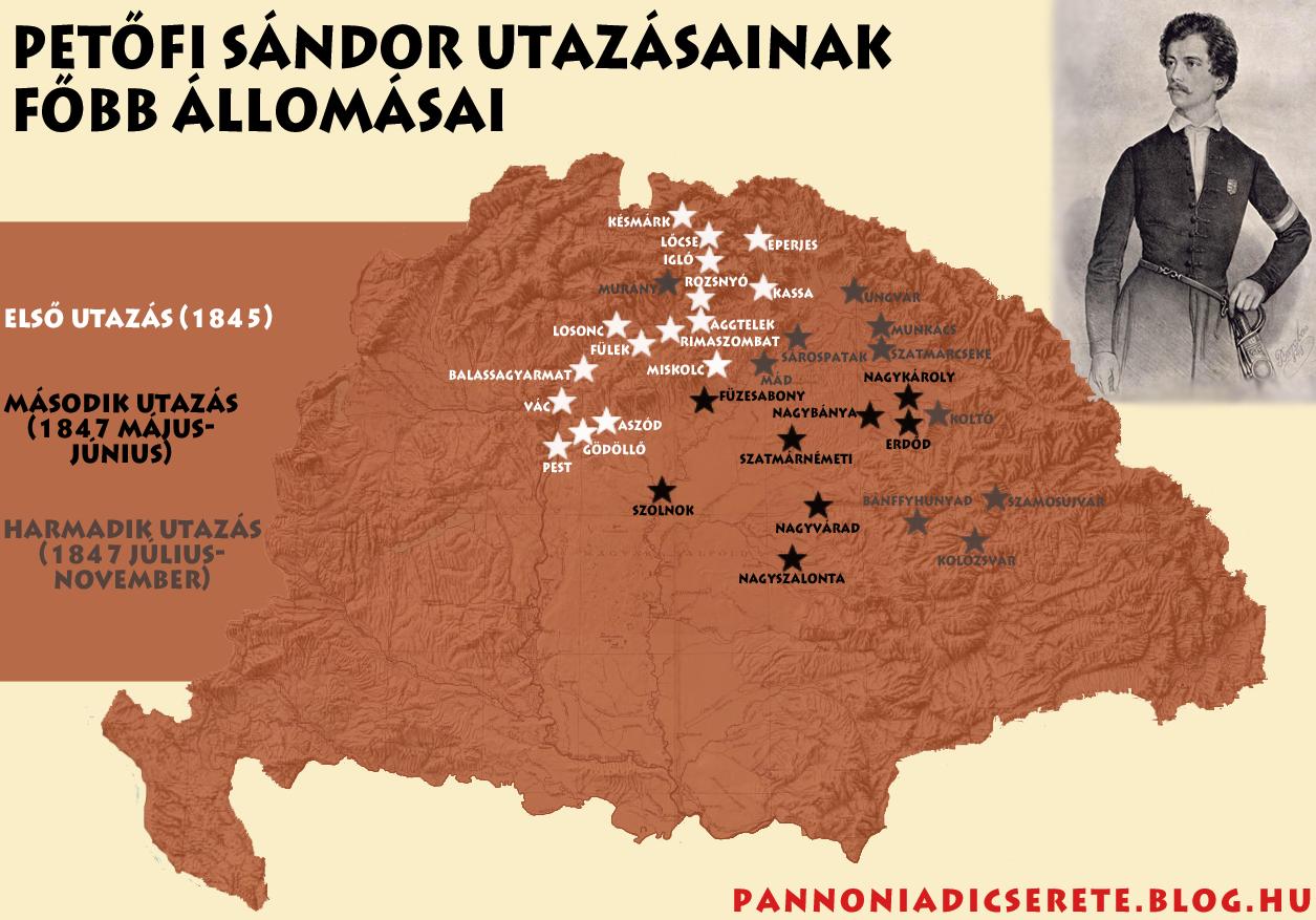 Petőfi utazásai térkép.png