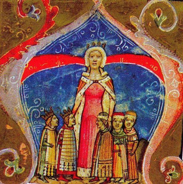 erzsébet királyné gyermekeivel_képes krónika.jpeg