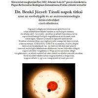 Csillagászati előadás és természettudományos vetélkedő a Pápai Refiben