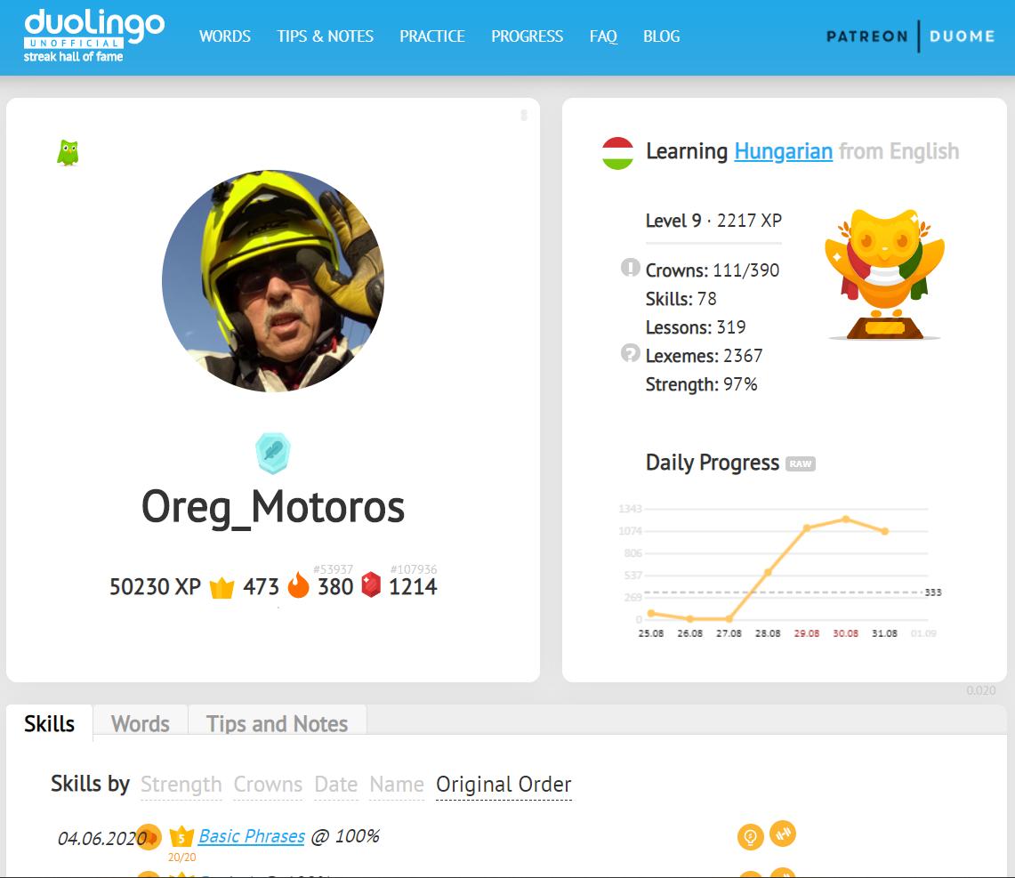 Angolról magyar: indítva június 4-én. Bagoly van, de csak 9. szint 2200 XP-vel.