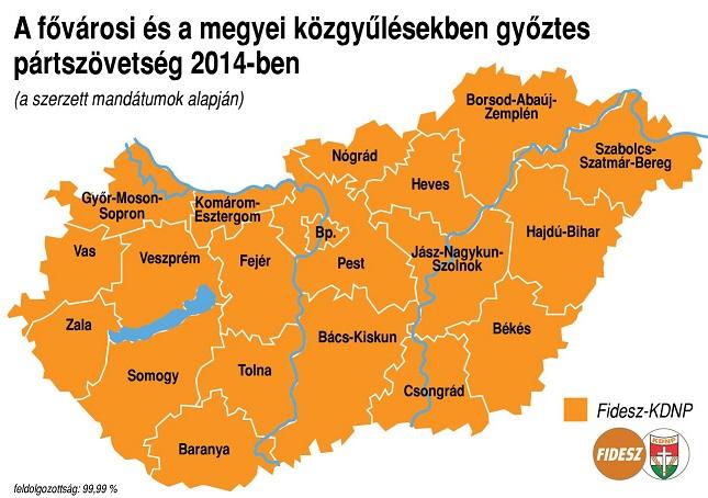 Magyarország önkormányzati vot 2014 megyei közgyűlések.jpg