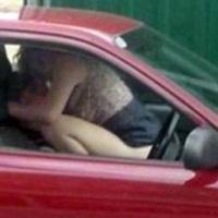 DOGGING - britek kocsiban