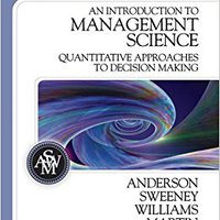 \\EXCLUSIVE\\ An Introduction To Management Science: Quantitative Approaches To Decision Making (with CD-ROM And Crystal Ball Pro Printed Access Card). October equipos accept arbeta Books October finding calcular