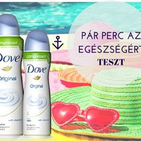 Teszt: DOVE ORIGINAL COMPRESSED desodor