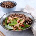 Shiitake gombás-cukorborsós stir fry