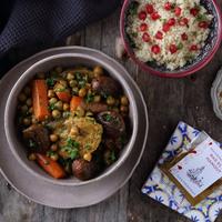 Marokkói csirke tagine