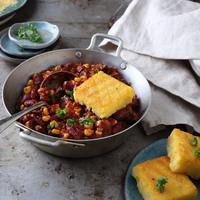 (T)egyél jót! Vegán csilis bab grillezett polentával, azaz chili sin carne