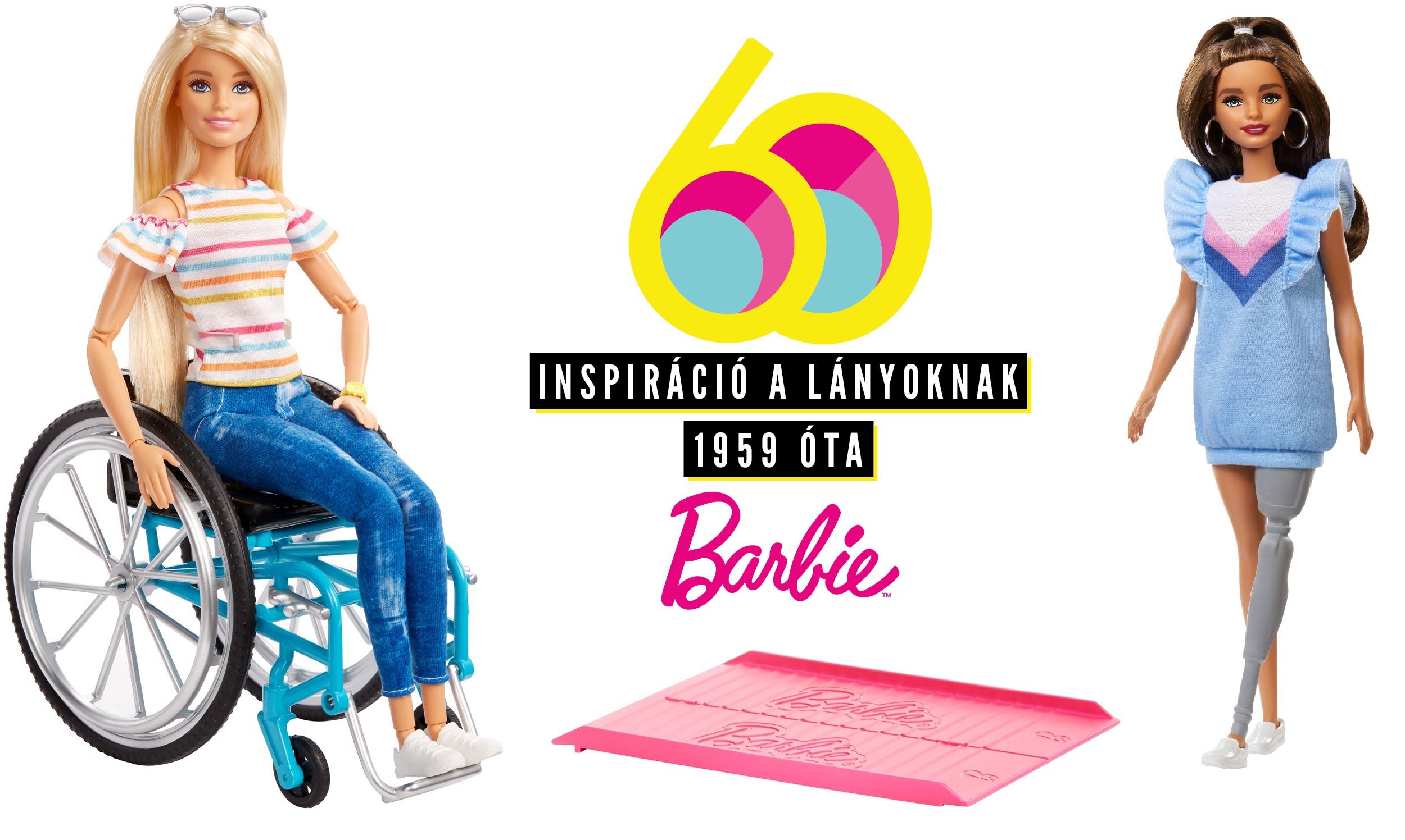 Kerekesszékes és műlábas Barbie babával segíti a Mattel a diverzitást!