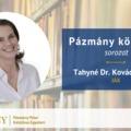 Pázmány könyvtár: interjú Tahyné Dr. Kovács Ágnessel