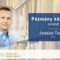 Pázmány könyvtár: interjú Fedeles Tamással