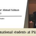 International students at Pázmány: Haydar Ahmad Salman (Syria)