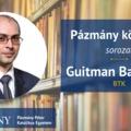 Pázmány könyvtár: interjú Guitman Barnabással