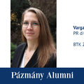 Pázmány Alumni: interjú Varga Zita Hellával, a BTK egykori hallgatójával