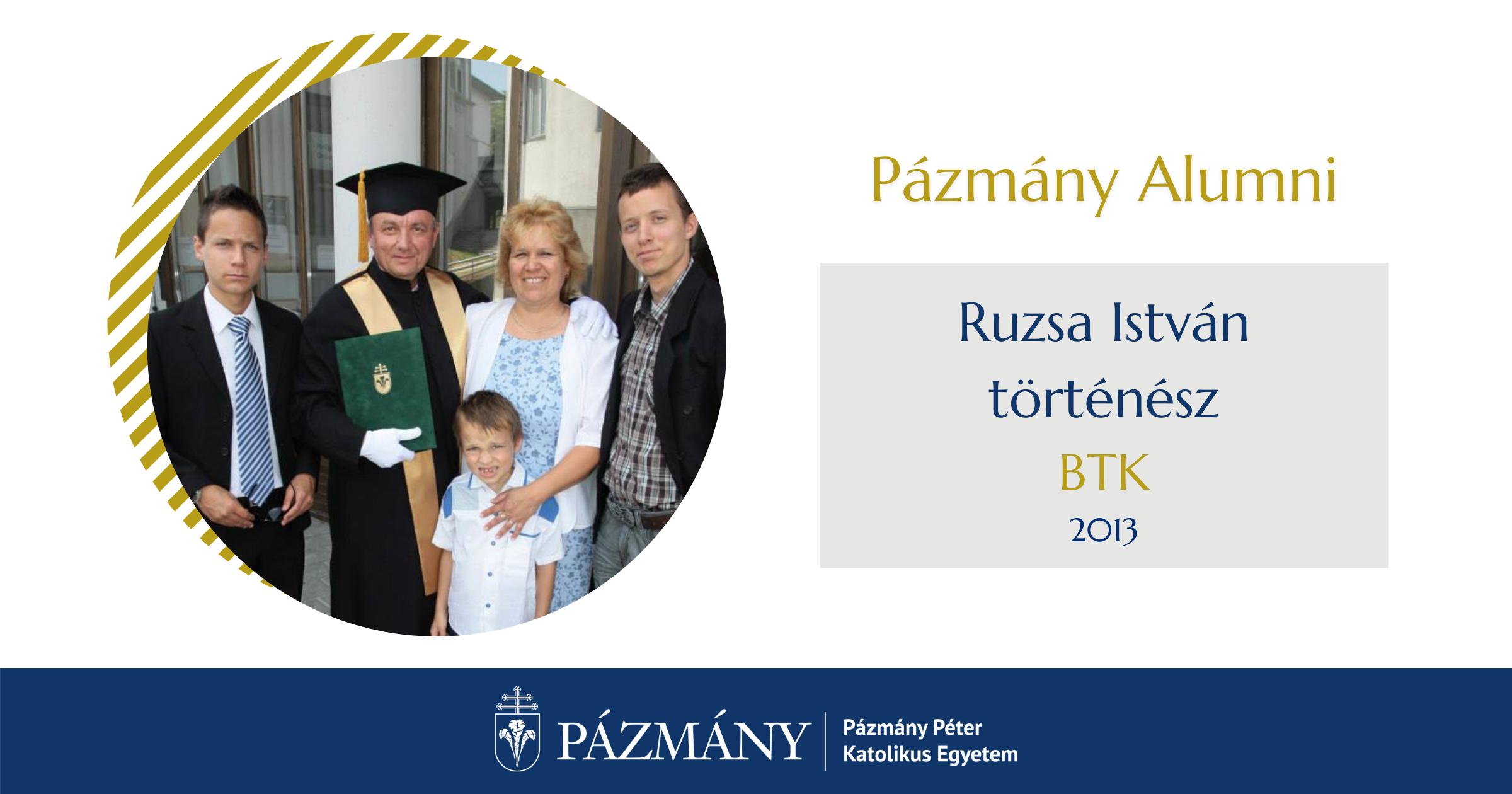 Pázmány Alumni: interjú Ruzsa Istvánnal, a BTK egykori hallgatójával