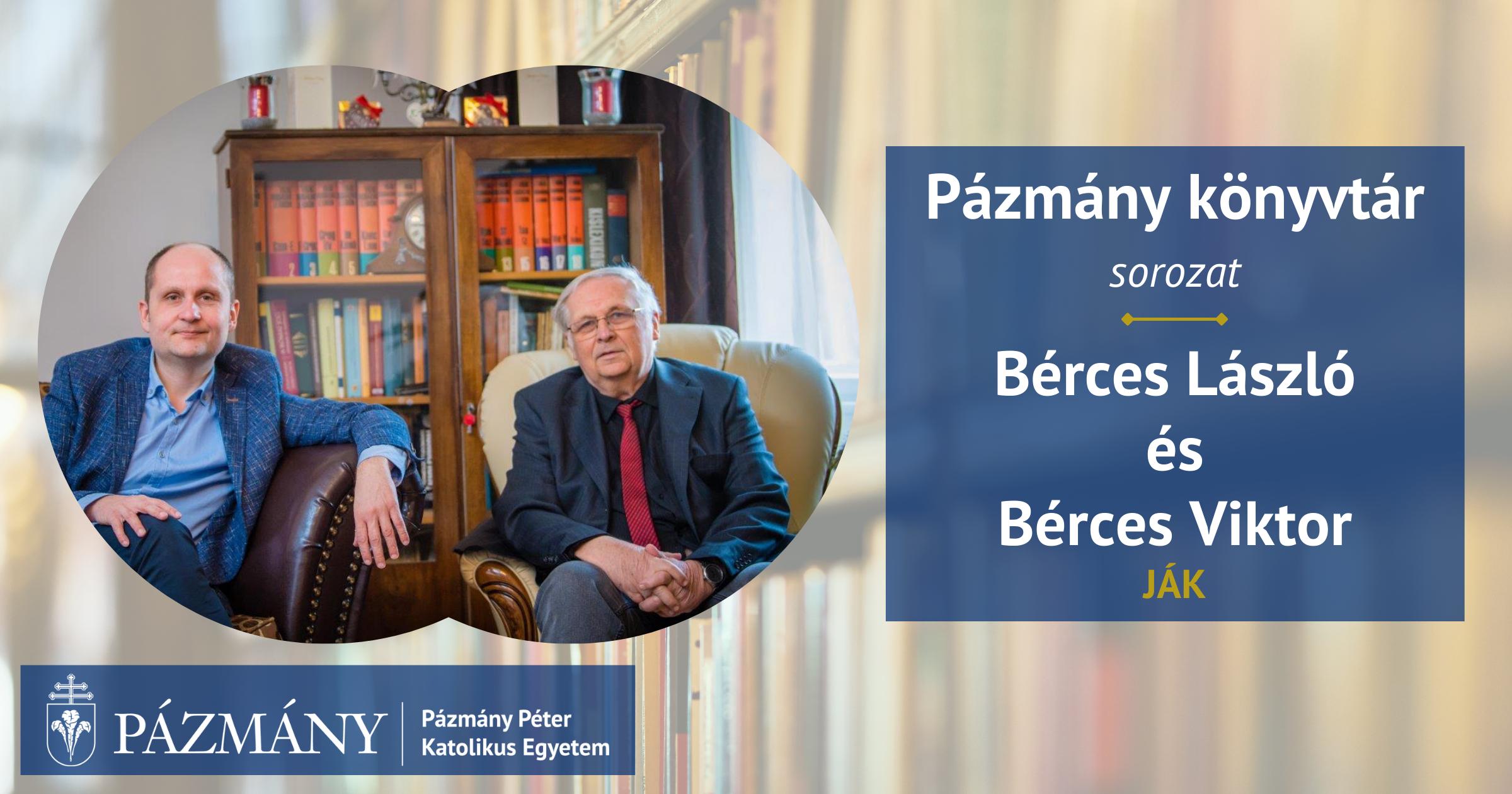 Pázmány könyvtár: interjú Bérces Lászlóval és Viktorral