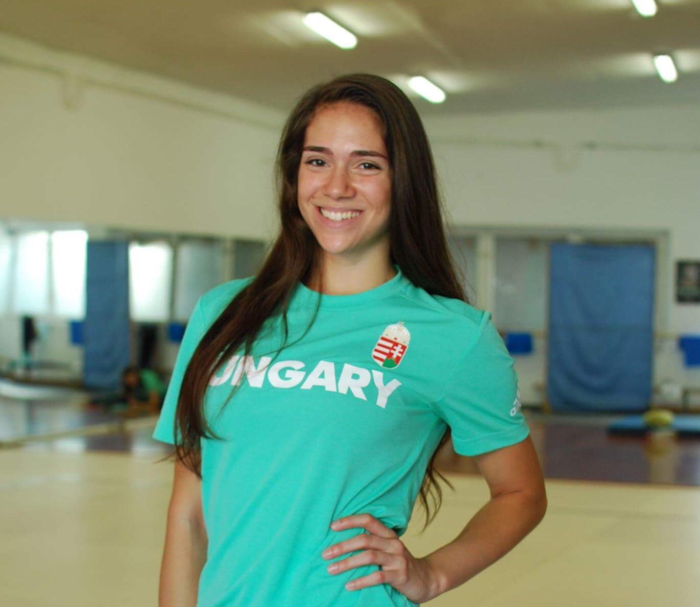 Büszkeségeink: Szenes Boglárka versenyaerobikozó, csoportos fitnesz instruktor, a BTK hallgatója