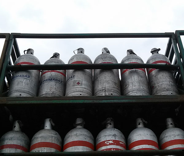 Gázpalack tárolása nyáron