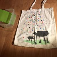 Vászontáska, éthordó/Canvas bag and food-carrier