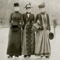 Hölgyek korcsolyával