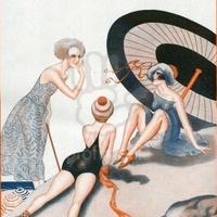 Stilizált meztelenség — a női fürdőruha kritikája 1923-ban