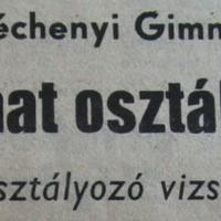 Lázadás a Széchenyi Gimnáziumban? - Eltűnt hat osztálynapló - 1989. április
