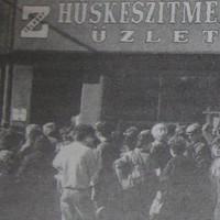 Jugoszláv bevásárlóturisták rohama Pécsen - 1989. szeptember