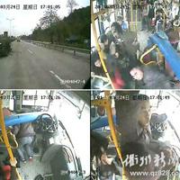 Őrület: A buszsofőr hajszál híján, de megúszta