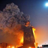 Öt éve égett le a CCTV-hez tartozó Mandarin Oriental hotel Pekingben