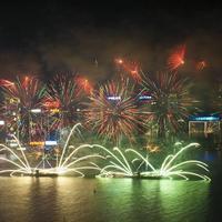 Ilyen volt Hongkongban a holdújévi tűzijáték