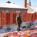 A holdújévi tavaszünnep kellékei egy kínai falu piacán - KÉPEK