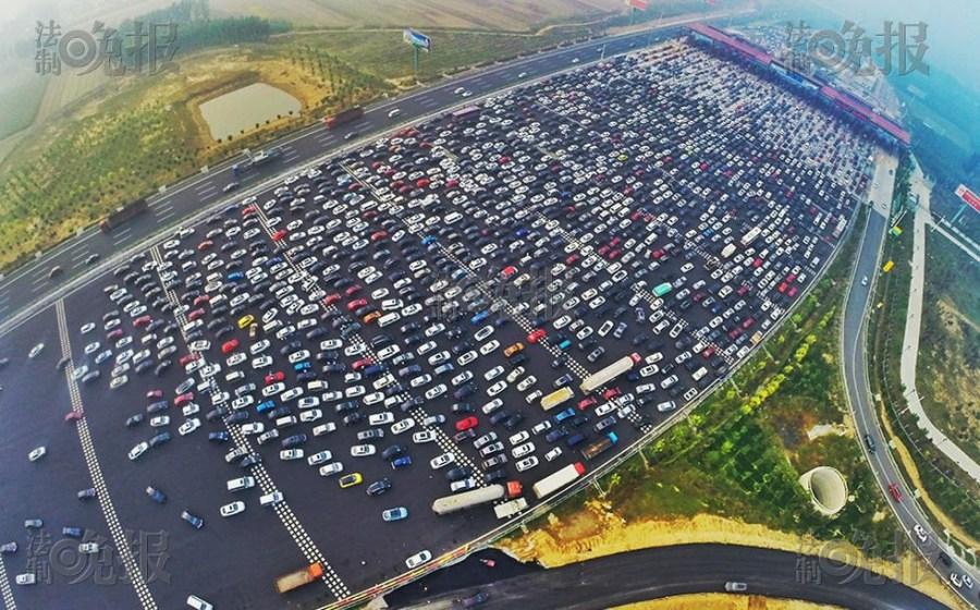 dugó térkép Nem parkoló, hanem autópálya   Brutális dugó Pekingben   Pekingi Kacsa dugó térkép