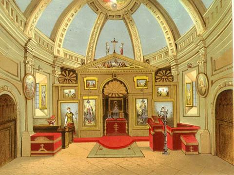 A kápolna felső szintje 1803-ban  - metszet.jpg