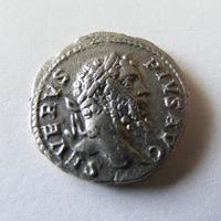 Septimius Severus verőtő-hibás dénárja