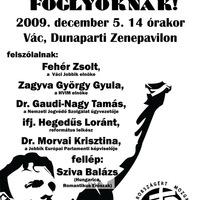 Amnesztiát a politikai foglyoknak! - demonstráció Vácon a dunaparton!