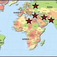 A világbékét leginkább fenyegető országok