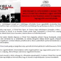 A Cannes-i Filmfesztivál és a L'oreal Paris 20 éves együttműködése