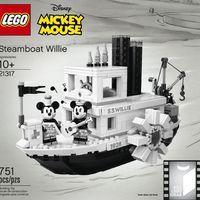 LEGO: Mickey egér klasszikus gőzhajója áprilistól a boltok polcain