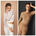 Irina Shayk: az új, természetes színekben elérhető knitwear kollekció sztárja