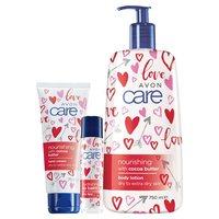 AVON Care tápláló és hidratáló termékcsalád kakaóvajjal