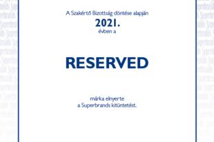 A RESERVED márka Superbrands kitüntetést kapott
